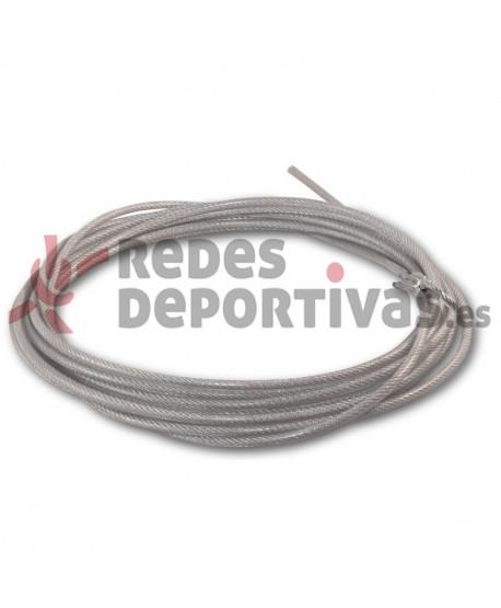 Repuesto de Cable de acero de 3 x 5 mm recubierto para Voley Playa/Tenis Playa