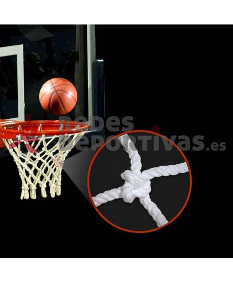 Red Baloncesto ALGODON 6 mm – 12 Ganchos
